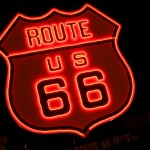 Route 66 Neon sign by Caveman Chuck Coker
